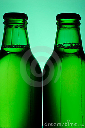 Two green bottles