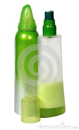 Two Green Plastic Bottles Stock Images - Image: 16487774