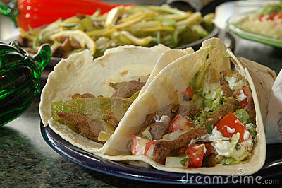 Two Grilled fajitas