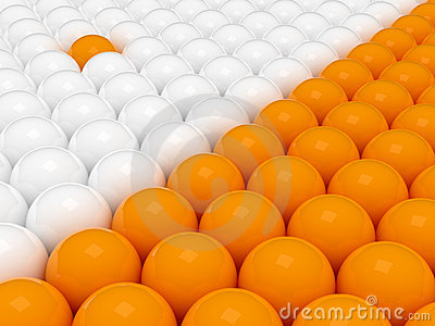 Two groups of 3d balls