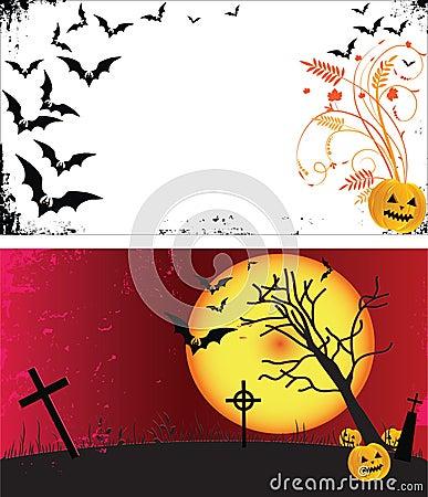 Two grunge Halloween frames.