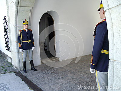 Two guards Editorial Stock Image