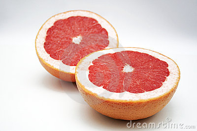 Two half of grape fruit - to be used for background