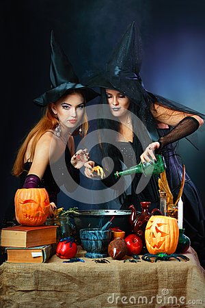 Two halloween witches