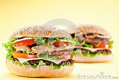Two hamburgers