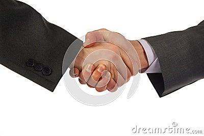 Two hand handshake