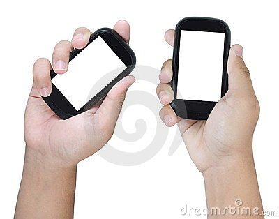 Two hands holding smart phone