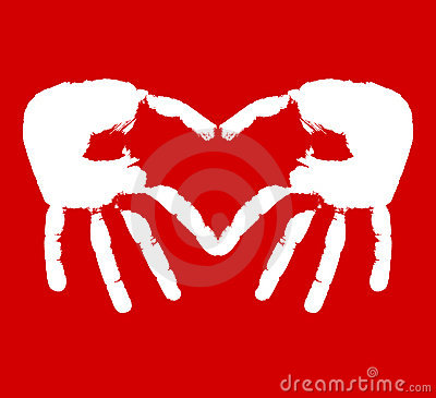Two hands representing heart