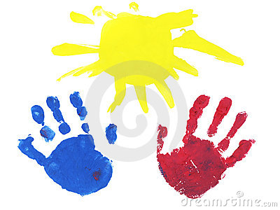 Two hands and the sun as a gift