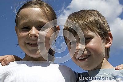 Two Happy Children