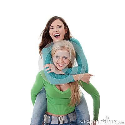 Two happy girls
