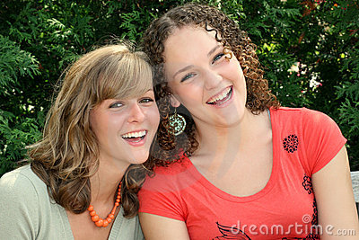 Two Happy Young Females