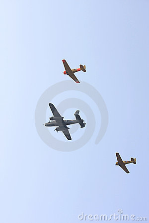 Two Harvards and a Bomber plane Editorial Photography