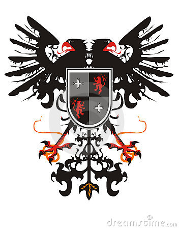 Free Two-headed Heraldic Eagle With A Shield Stock Photography - 16991202