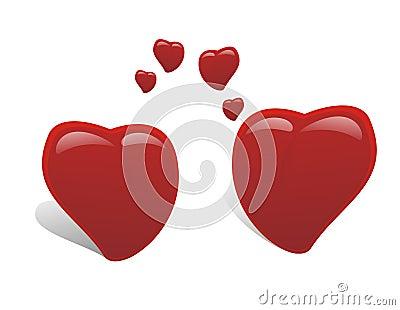 Two heart falling in love