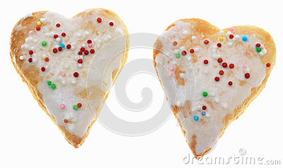 Two Heart-Shaped Cookies