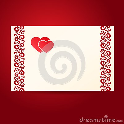 Two heartes postcard