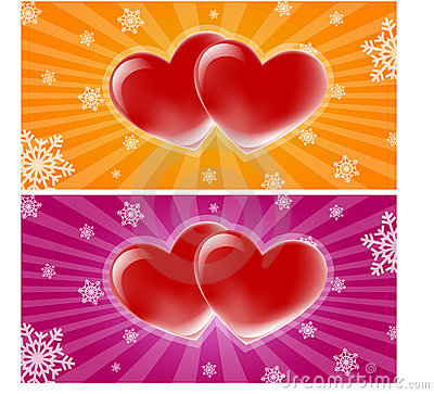 Two hearts banner