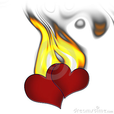 Two hearts in fire