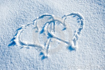 Two Hearts in the Snow