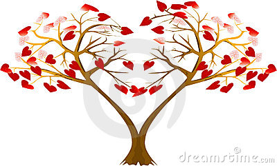 Two hearts trees