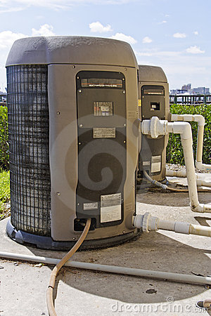 Two heat pumps with plumbing