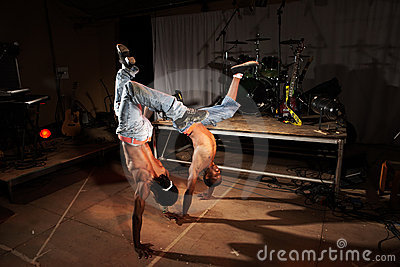 Two hip-hop dancers