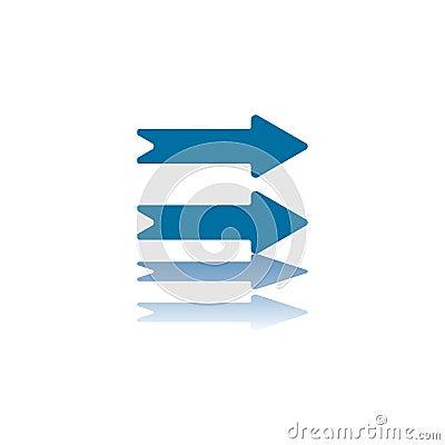 Two Horizontal Right Arrows
