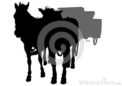 Two horse and cart