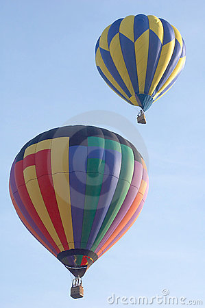 Free Two Hot Air Balloons Royalty Free Stock Images - 2779369