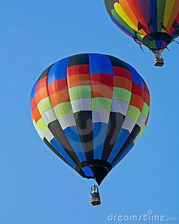 Free Two Hot Air Balloons Stock Image - 5835981