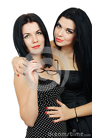 Free Two Hot Sexy Brunette Royalty Free Stock Images - 66476299