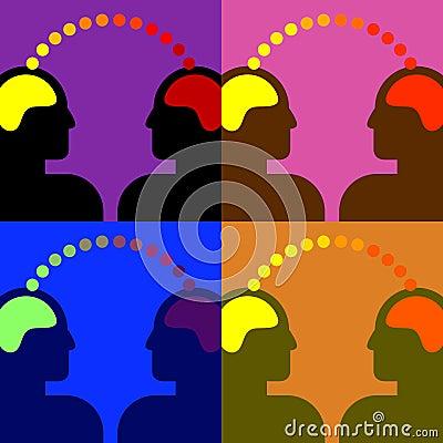 Two human heads