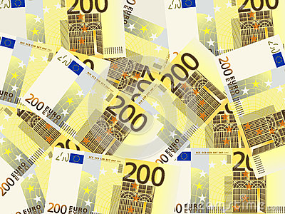 Two hundred euro background