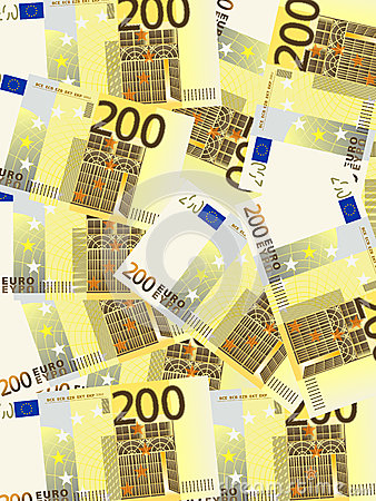 Two hundred euro background vertical