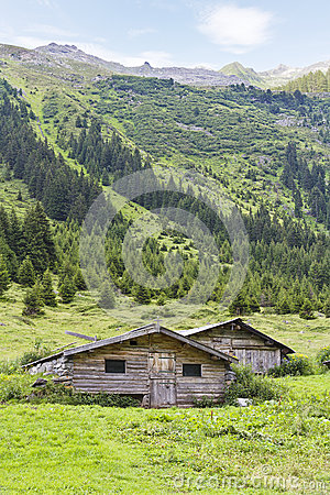 Two Huts in the meadow