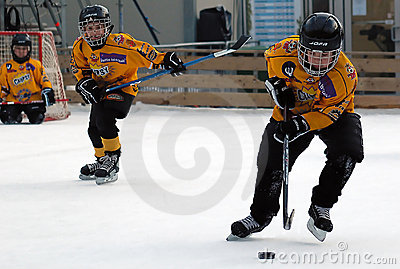 Two ice hockey player in action Editorial Photography