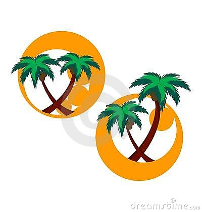 Two icons with palm trees