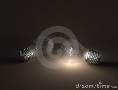 Two incandescent light bulbs