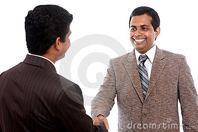 Two Indian business people