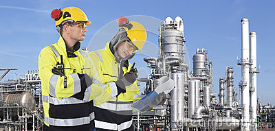 Two industrial guards Stock Photo