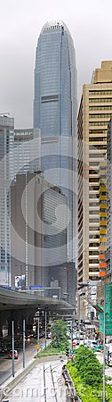 Two International Finance Centre in Hong Kong. Editorial Image
