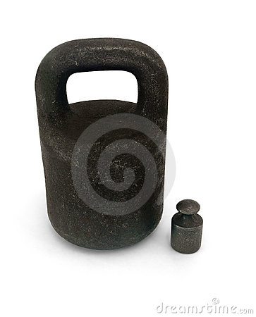 Two iron weights
