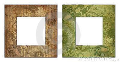 Two isolated art frame with