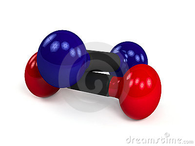 Two Isolated Dumbbells Over White Background Royalty Free Stock Photos - Image: 19563598
