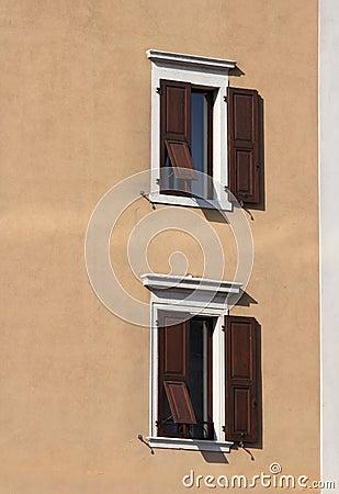 Two Italian windows
