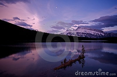 Two Jack Lake before sunrise