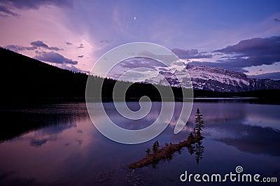 Two Jack Lake before sunrise