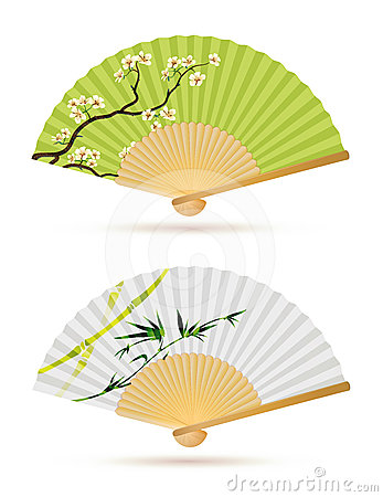 Two japanese folding fans