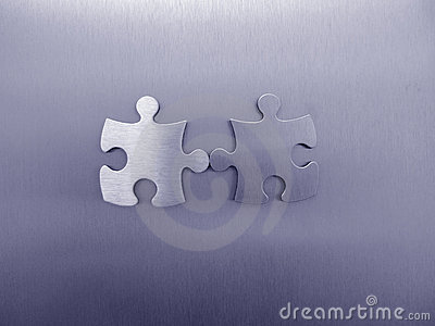 Two jigsaw pieces